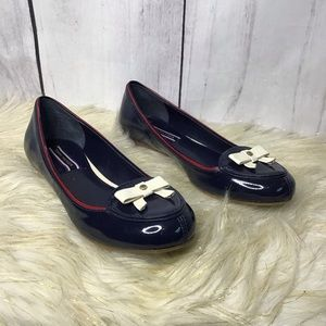 Tommy Hilfiger Cordovan patent leather flats